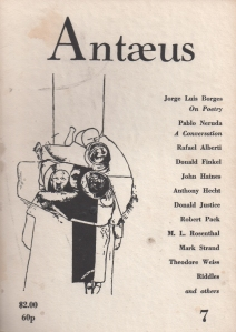 Antaeus, Autumn, 1972