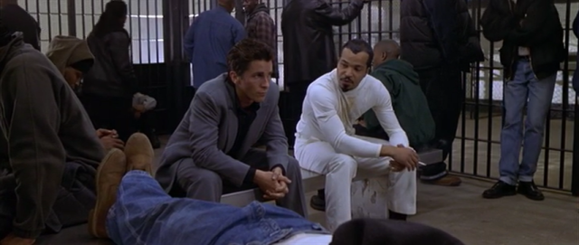 "Walter Wade, Jr. (Christian Bale) and ""Peoples"" Hernandez (Jeffrey Wright)"