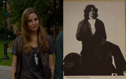 "Left: Genevieve Hudson-Price in ""Samaritans."" Right: Richard Price author photo from an early edition of The Wanderers"